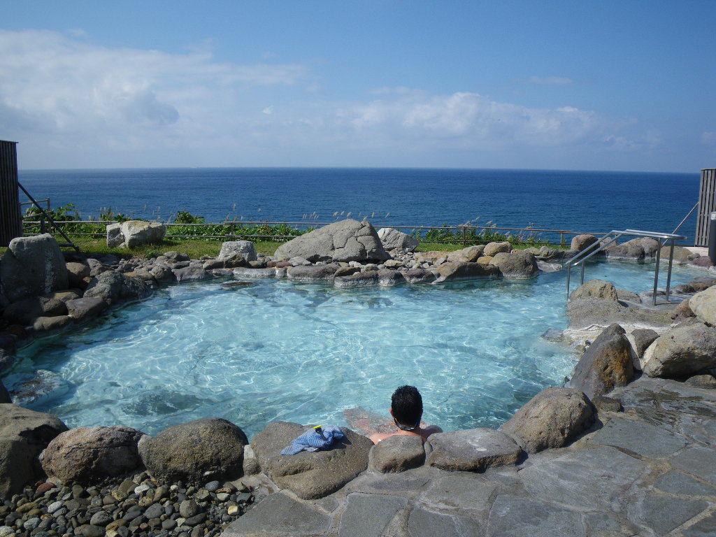 積丹半島「岬の湯」から 日本海展望