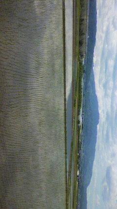 伊勢そばの駐車場からの月山、葉山眺め