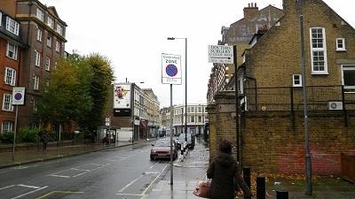 """宿泊したホテルの近くの街並み、ロンドン"""""""