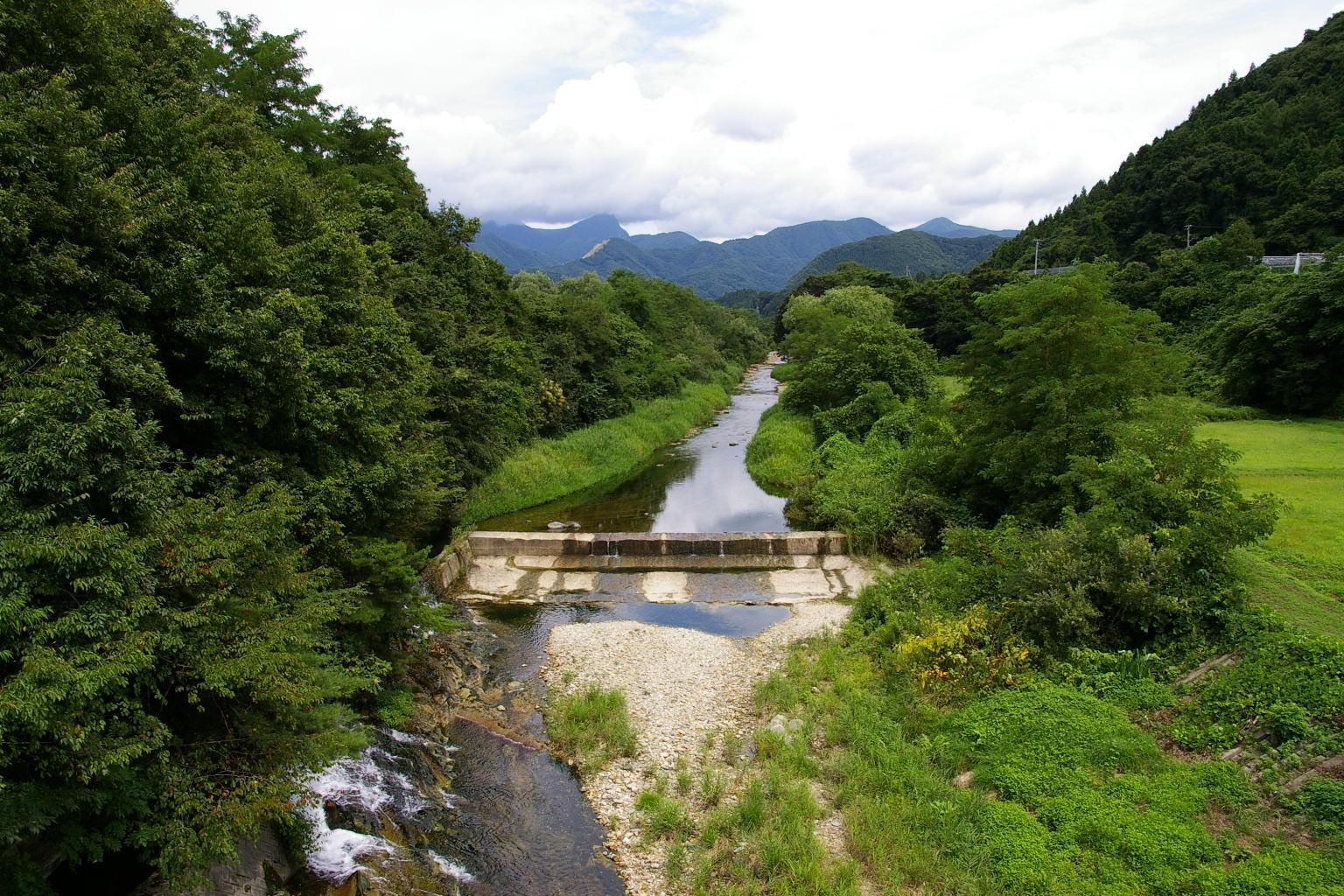 東根市猪野沢橋からの眺め
