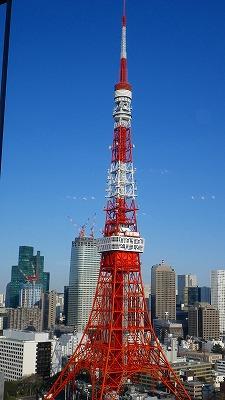 私の目の前にはドーンと東京タワーが
