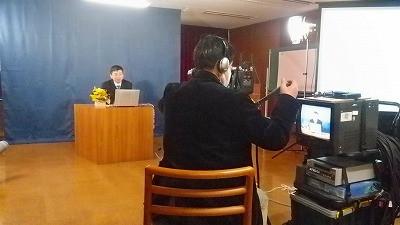 中国人の漢方の先生によるビデオ撮影のもよう