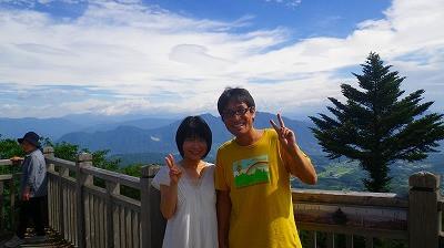 妻と伊香保温泉でパチリ