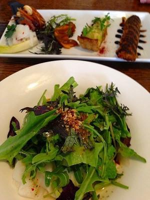 春野菜のサラダ、美味しかったです
