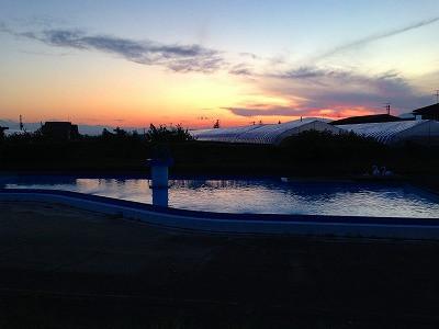 がまプールの夕焼けです