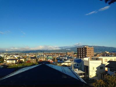 東根市、神町からの眺め「月山」