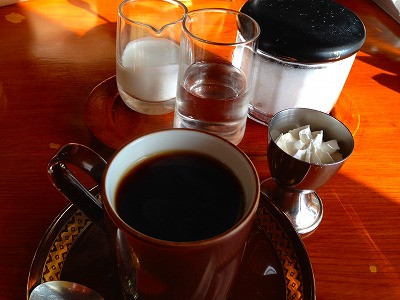 山形市白山にある喫茶店の珈琲<br />