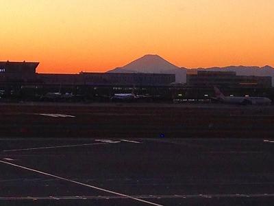 上空からの富士山眺め