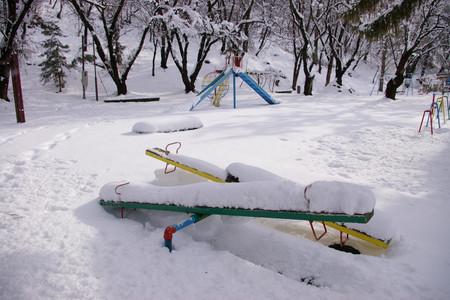 雪景色の若木山公園