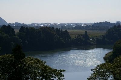 最上川、大淀の流れ