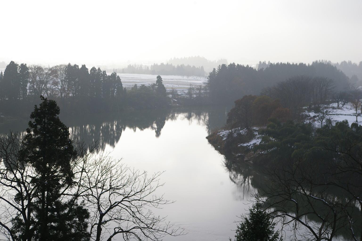 最上川 大淀の流れ