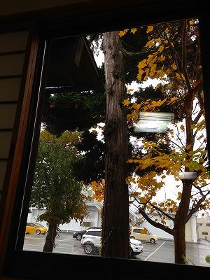座った席から窓を眺めます。