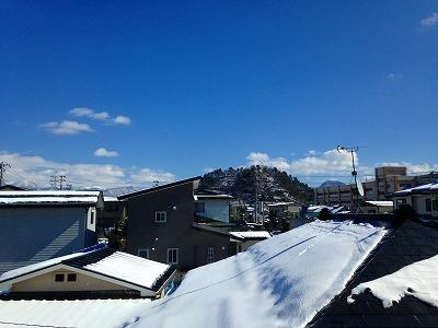 晴れ渡る若木山(おさなぎやま)風景