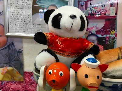 漢方相談コーナーのパンダのぬいぐるみ