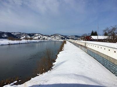 大石田大橋からの眺め、最上川