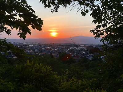 月山の夕焼け