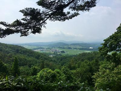 猿羽根山からの眺め