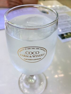 カフェのお水もオシャレ