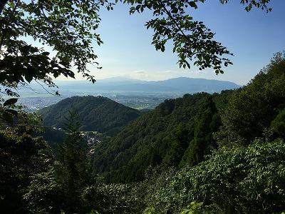 月山と葉山の眺め