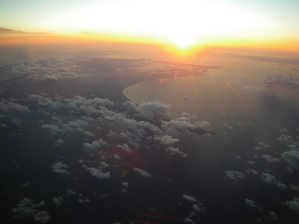 私の好きな下北半島と津軽半島上空
