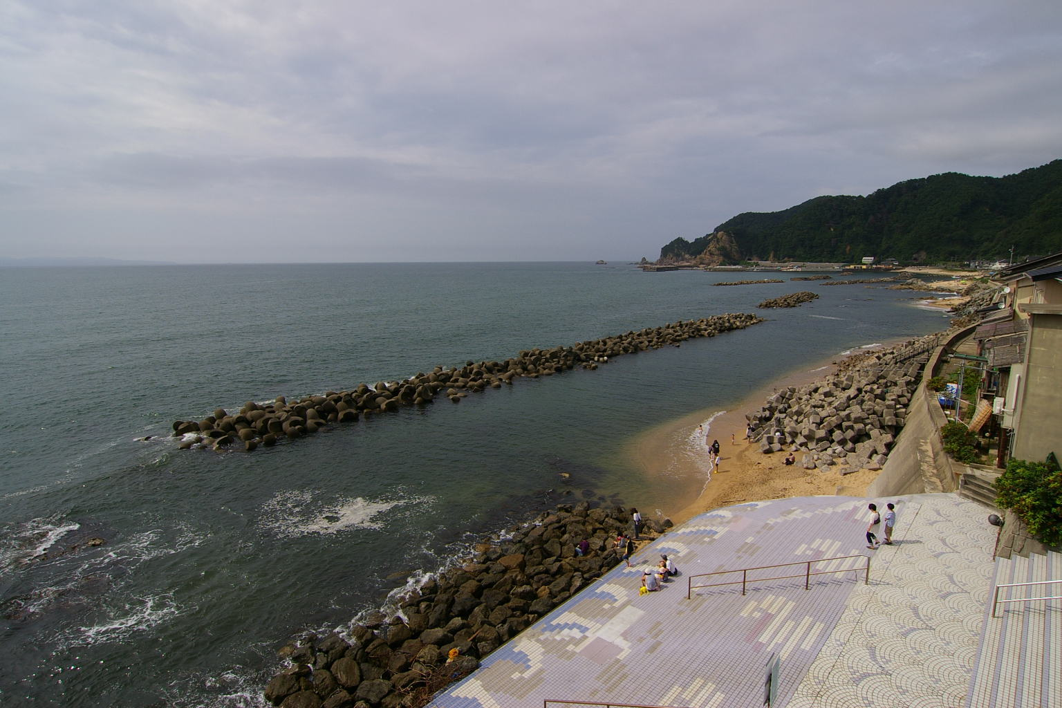 新潟県「笹川流れ」展望