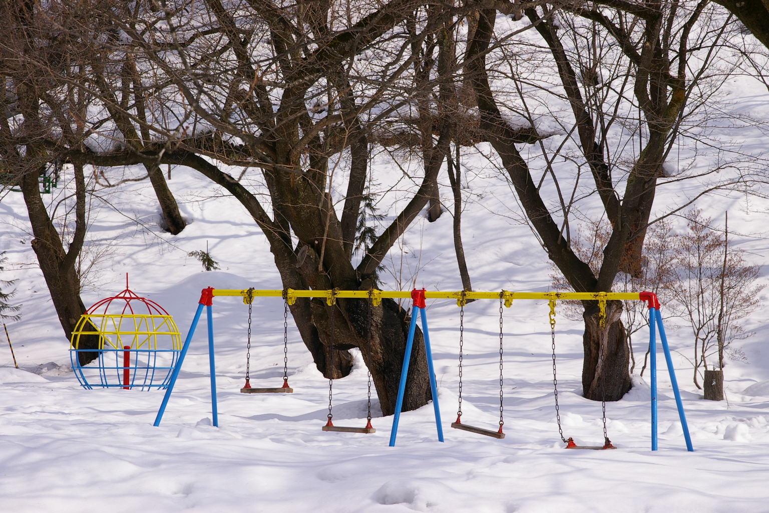 若木山公園 雪景色