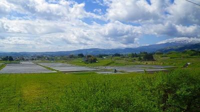 山形新幹線の車窓風景