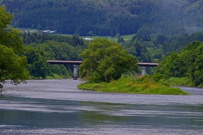 最上川 ビューポイント 大淀の流れ
