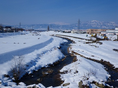 雪景色の野川