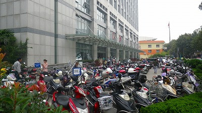 中国の南通市の交通事情