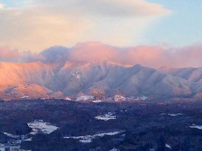 蔵王の風景、雪景色