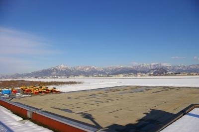 山形空港からの眺め