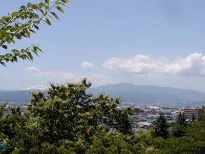 ちょうど栗の花が、左に月山と右に葉山を分けています。