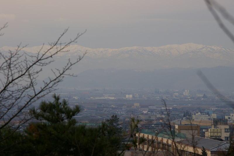 朝日連峰眺め