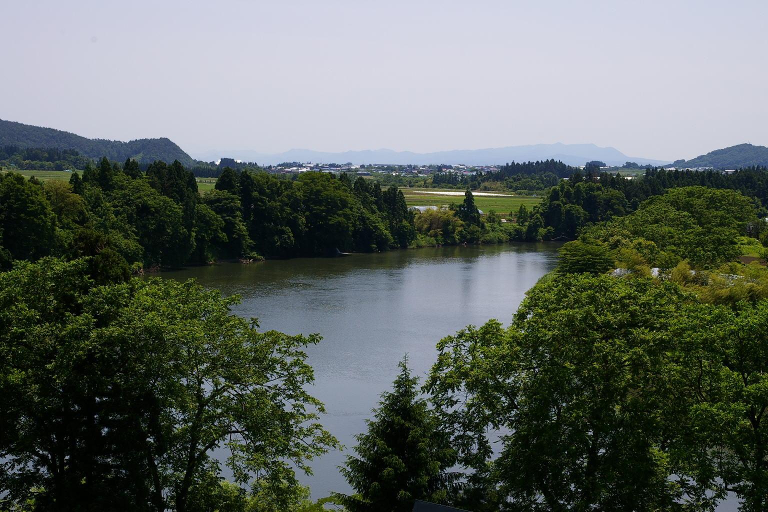 母なる川 最上川を代表する点景 「大淀の流れ」