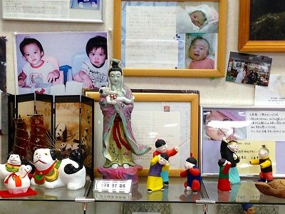 子宝の神様、送子観音菩薩と中国の泥人形