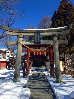 若木神社の参道