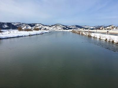 大石田大橋からの最上川眺め