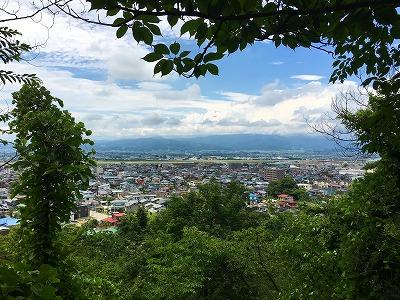 若木山からの神町の眺め