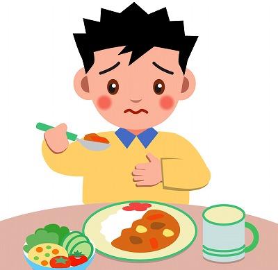 ご飯が食べられない男性